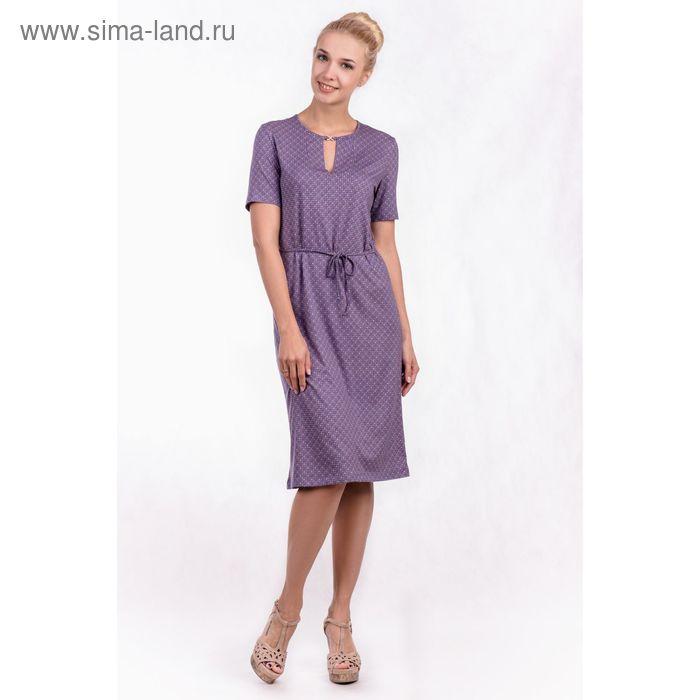 """Платье женское """"Ромбики"""", цвет индиго, размер 52 (арт. MV2526/01)"""