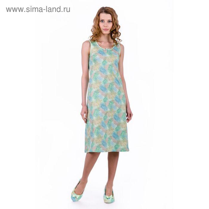 """Сорочка женская """"Хризантемы"""", цвет салатовый, размер 54 (арт. ML2538/01)"""