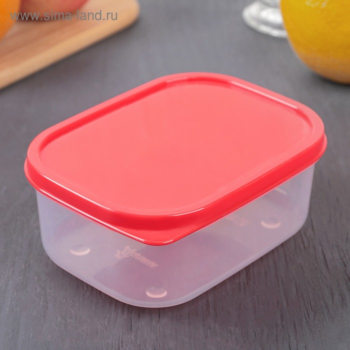 The food container 500 ml, colour red