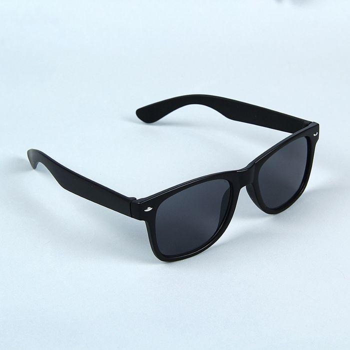 Очки солнцезащитные Wayfarer, оправа чёрная с прямоугольниками, линзы микс