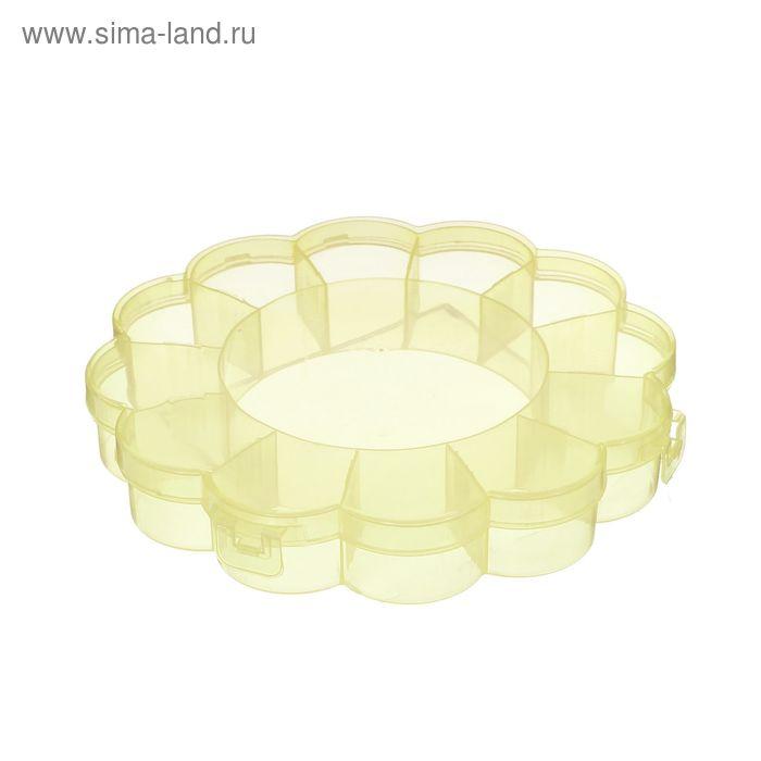 Контейнер для бисера, 15,5х2,5см, цвет жёлтый