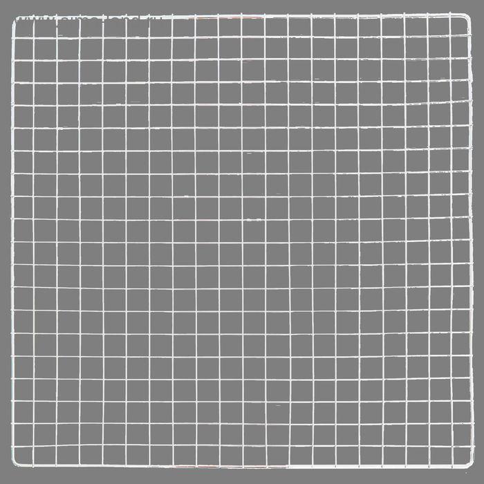 Решетка 100*100 см, пруток 0,4 и 0,9 см, ячейка 5*5 см, хром