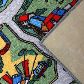 Палас «Лунапарк», 120х100 см, зелёный - фото 7254662
