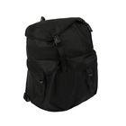 Рюкзак молодёжный на молнии, 1 отдел, 4 наружных кармана, чёрный