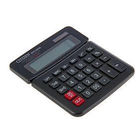 Калькулятор настольный 10-разрядный SDC-340III, двойное питание, поворотный дисплей, черный Ош