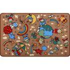 Ковер принт Радуга, размер 100х150 см, цвет бежевый, полиамид