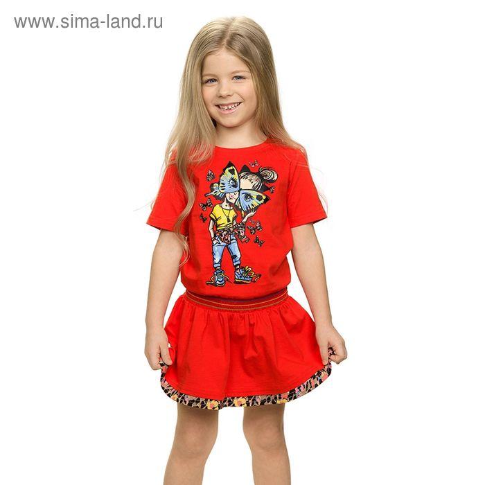 Платье для девочек, рост 110-116 см, возраст 5 лет, цвет красный (арт. GDT388/1)