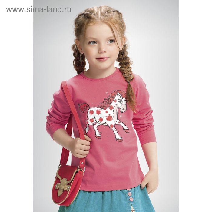 Джемпер для девочек, рост 110-116 см, возраст 5 лет, цвет коралловый (арт. GJR351)