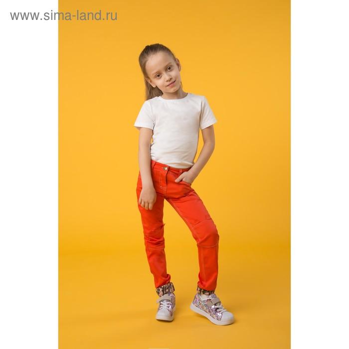 Брюки для девочек, рост 110-116 см, возраст 5 лет, цвет красный (арт. GWP388)