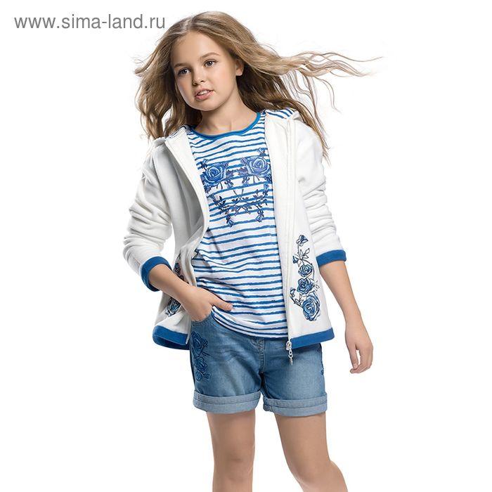 Шорты для девочек, рост 146-152 см, возраст 11 лет, цвет белый (арт. GWH489)