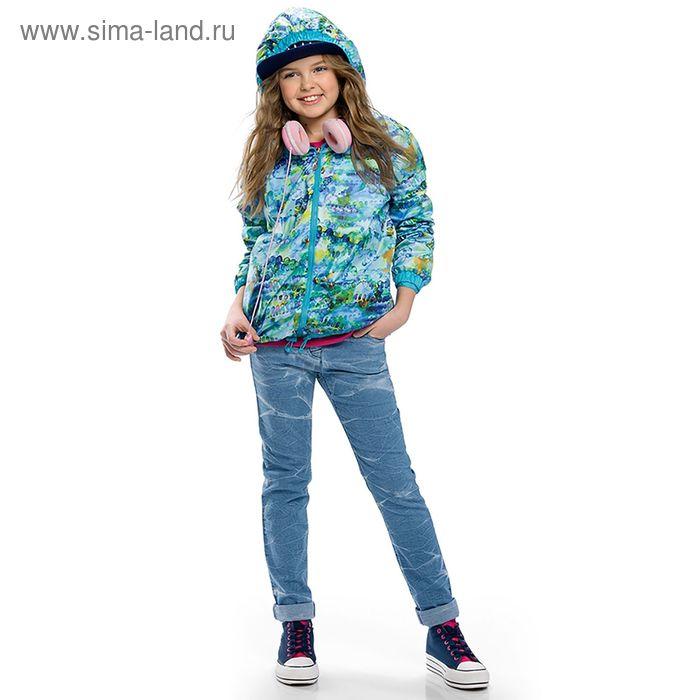 Брюки для девочек, рост 146-152 см, возраст 11 лет, цвет голубой (арт. GWP491)