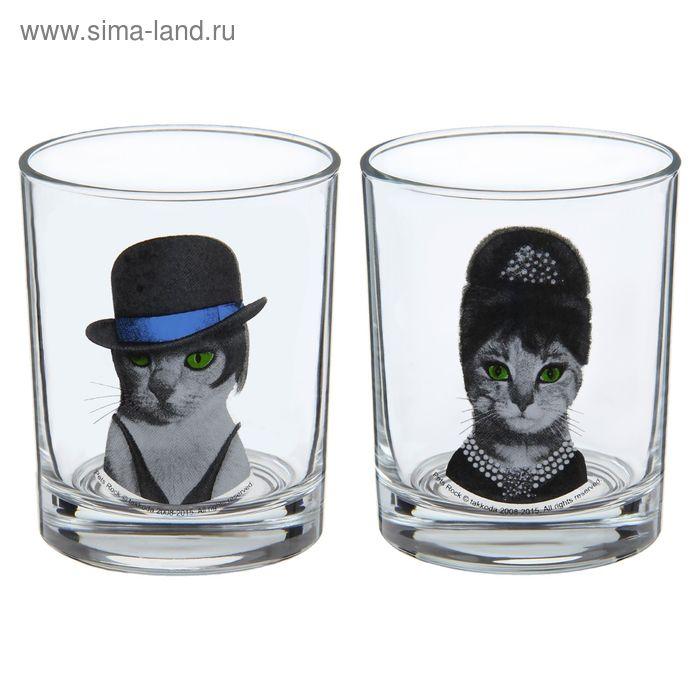 """Набор стеклянных стаканов 250 мл """"Одри. Лайза"""", 2 шт"""