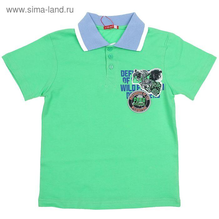Футболка-поло для мальчиков, рост 146-152 см, возраст 11 лет, цвет светло-зеленый BTRP448