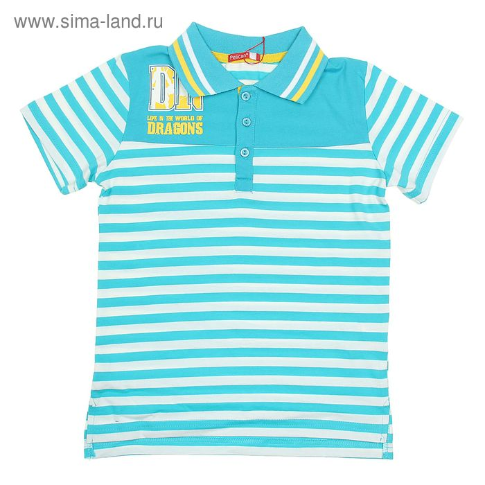 Футболка для мальчиков, рост 158-164 см, возраст 13 лет, цвет нежно-голубой (арт. BTRP566)