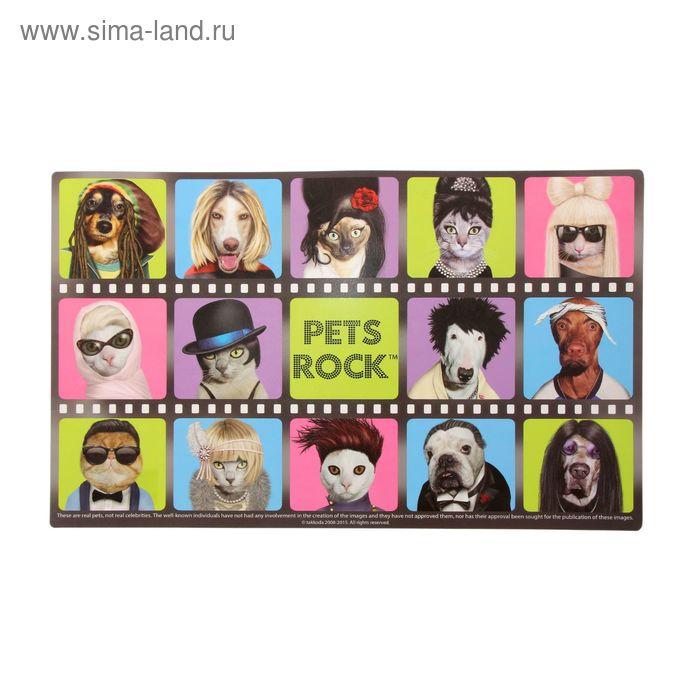 Подставка пластиковая под посуду 47х28 см Pets Rock