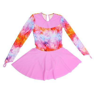 """Костюм гимнастический """"Браво"""", с длинным рукавом, юбка, размер 38, цвет 1"""