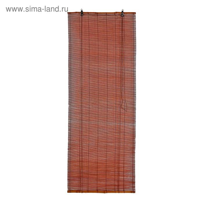 """Штора рулонная бамбуковая 120 х 160 см """"Осака"""", цвет венге"""