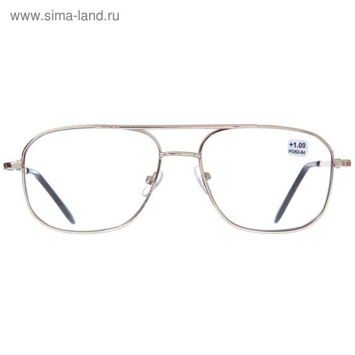 "Очки ""Авиаторы"", линза из пластика, хамелеон, +1 дптр, 62-64мм"