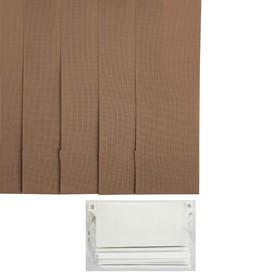 Набор ламелей 5 шт 180 см 'Вертикальные шторы. Лайн', цвет хаки Ош