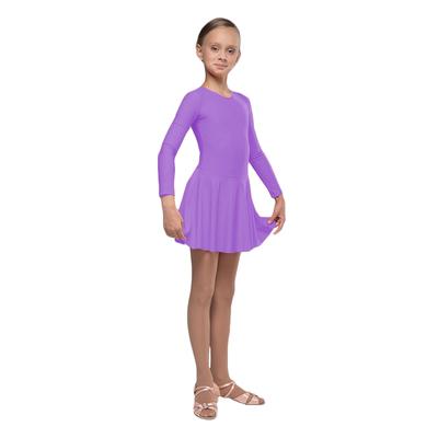 Рейтинговое платье, с длинным рукавом, юбка расклешённая, размер 36, цвет сиреневый
