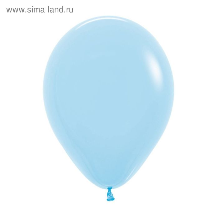 """Шар латексный 5"""", пастель, набор 100 шт., цвет светло-голубой"""