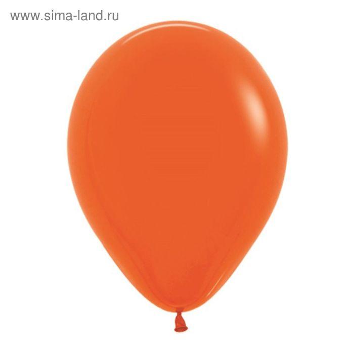 """Шар латексный 12"""", пастель, набор 12 шт., цвет оранжевый"""