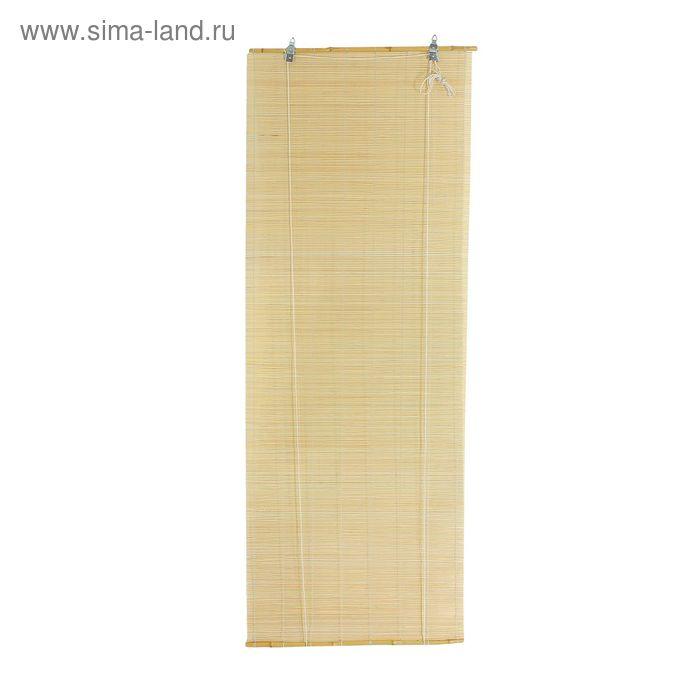 """Штора рулонная бамбуковая 80 х160 см """"Осака"""", цвет натуральный"""