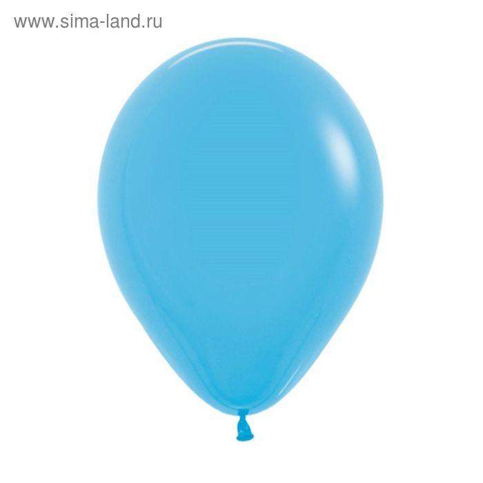 """Шар латексный 12"""", пастель, набор 12 шт., цвет голубой"""