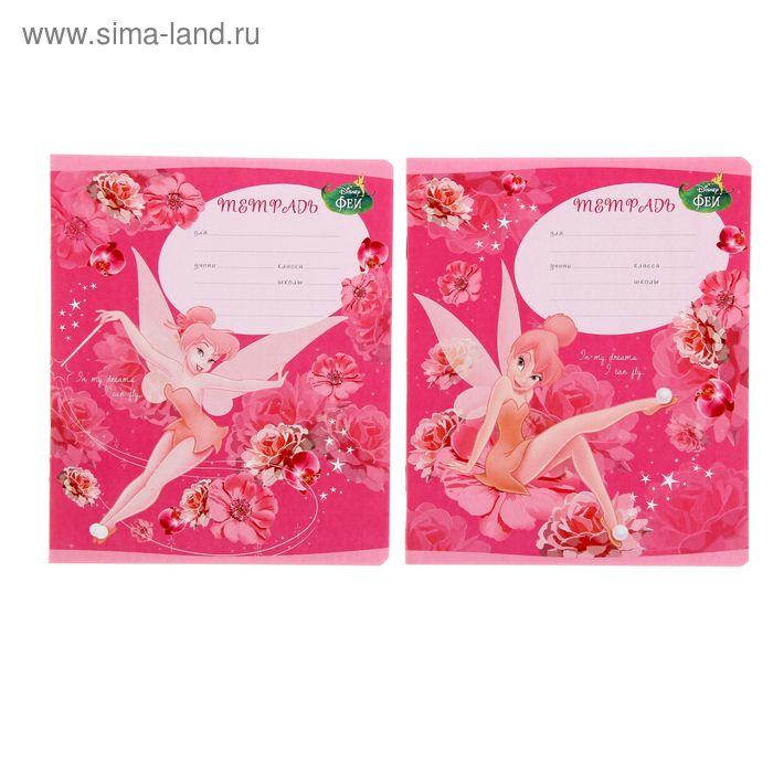 Тетрадь 12 листов клетка Tink Pink, картонная обложка, МИКС, EK 39537