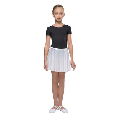 Юбка-сетка гимнастическая на завязках с запахом, размер 28, цвет белый