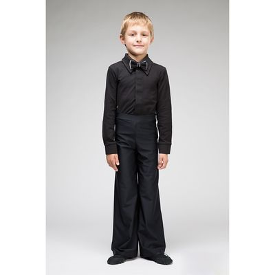 Рубашка бальная, размер 34, цвет чёрный