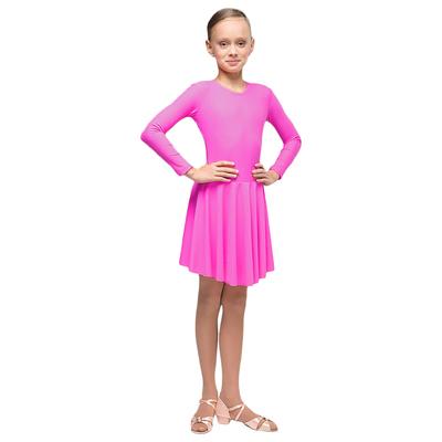 Рейтинговое платье, с длинным рукавом, юбка-солнце, размер 38, цвет малиновый