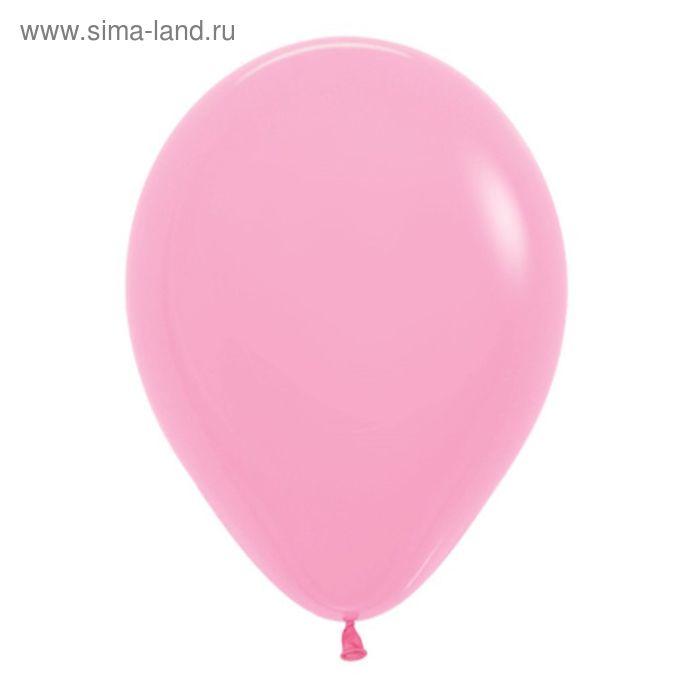 """Шар латексный 12"""", пастель, набор 12 шт., цвет розовый"""