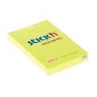 Блок с липким краем Hopax 51х76 мм,100 листов, Neon, жёлтый