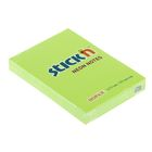 Блок с липким краем Hopax 51х76 мм, 100 листов, Neon, зелёный