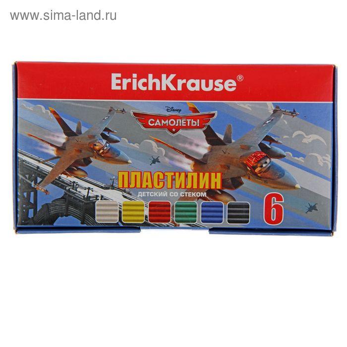 """Пластилин 6 цветов 108г """"Самолеты. Flying Plans"""", со стеком, EK 39623"""