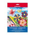 Картон цветной перламутровый А4, 5 листов, 5 цветов Erich Krause, 200 г/м2