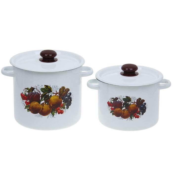 Набор кастрюль «Йогурт», 2 предмета: 3,5 л, 5,5 л