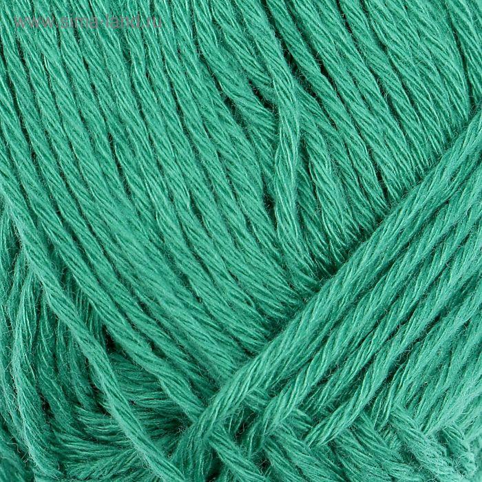 "Пряжа ""Бамбуковая"" 100% бамбук.волокно 130м/50гр (0754, зеленая бирюза)"