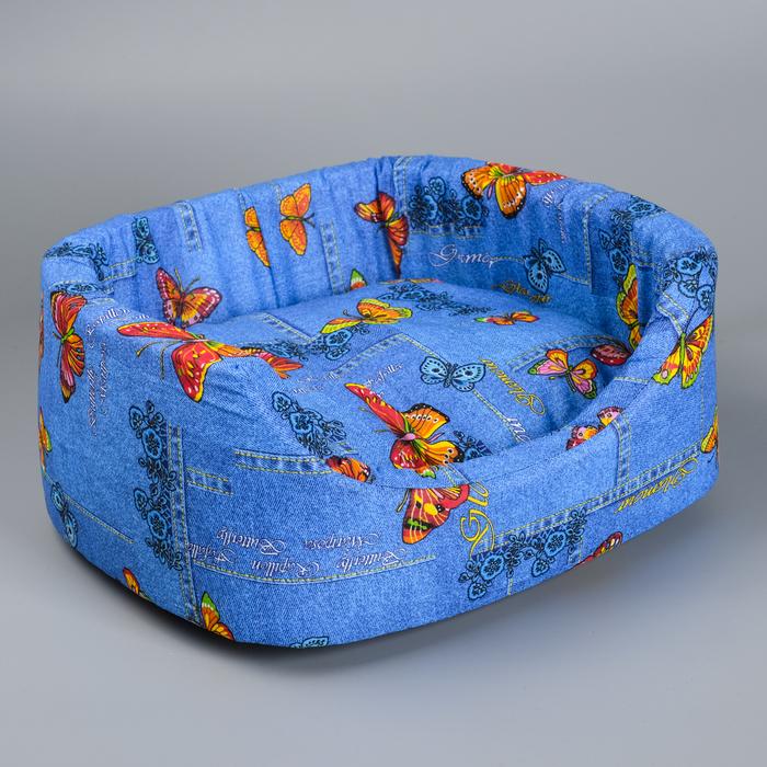 Лежанка №2, с подушкой, 45 х 35 х 16 см  МИКС ЦВЕТОВ