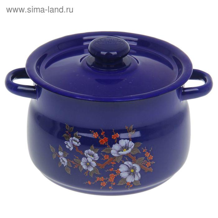 Кастрюля сферическая 4 л, цвет фиолетовый