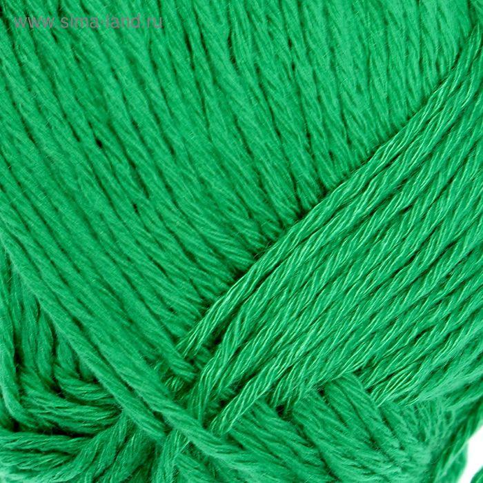 "Пряжа ""Бамбуковая"" 100% бамбук.волокно 130м/50гр (0723, яркая зелень)"