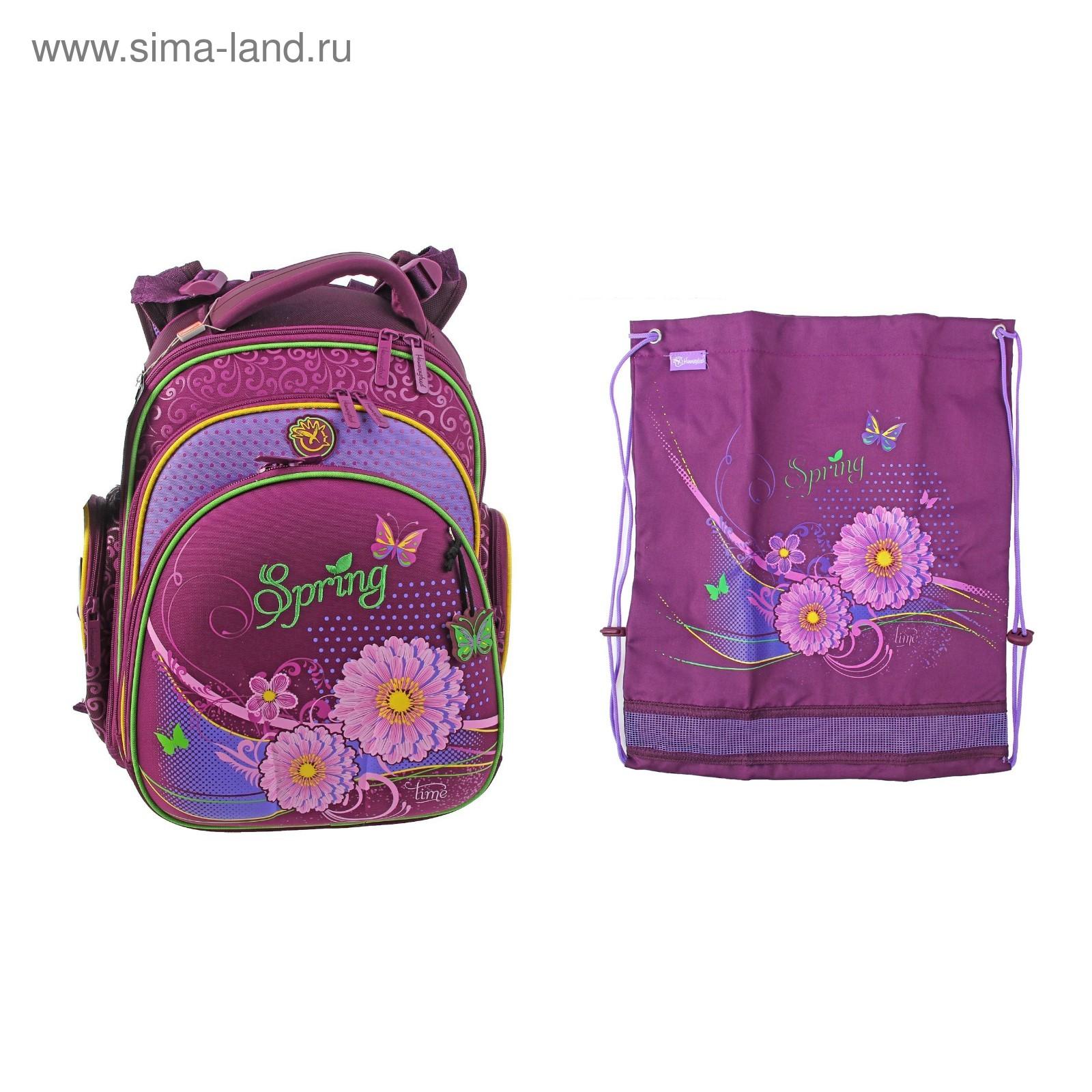 eeadb0e0e552 Рюкзак каркасный Hummingbird 32*27*18 + мешок для обуви, для девочки ...