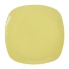 """Тарелка обеденная 26 см """"Пастель"""", квадратная, цвет желтый"""