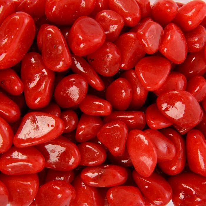 Грунт для аквариума (5-10 мм), красный, 350 г - фото 699717