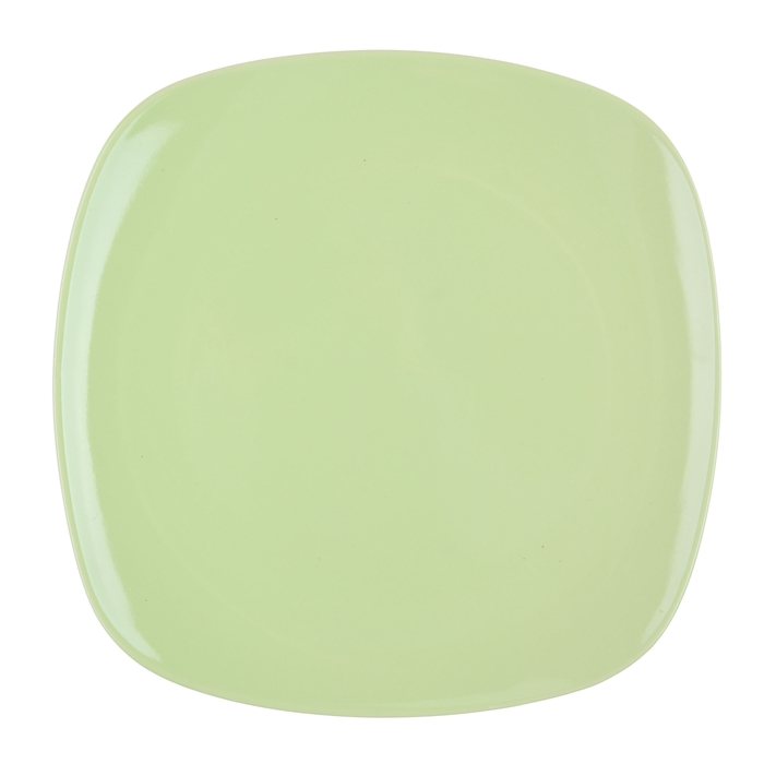 """Тарелка обеденная 26 cм """"Пастель"""", квадратная, цвет зеленый"""