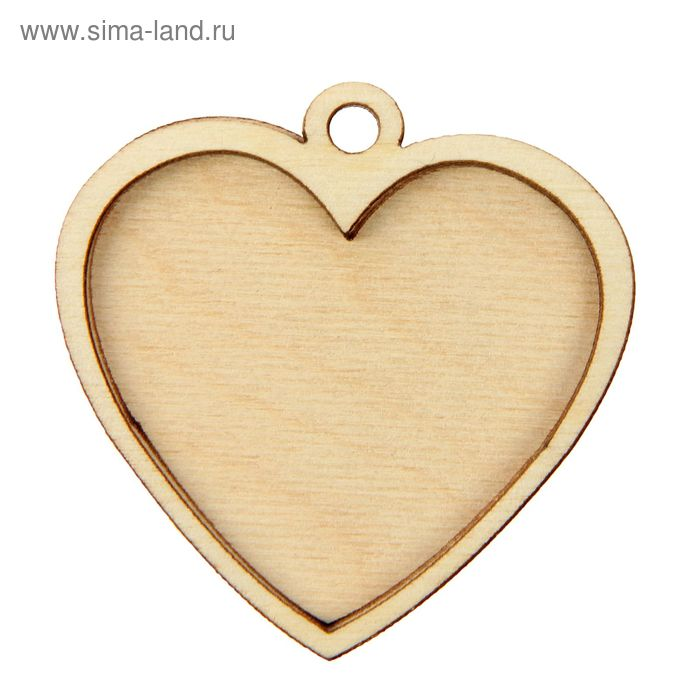 "Бирка для декора ""Медальон сердечко"""