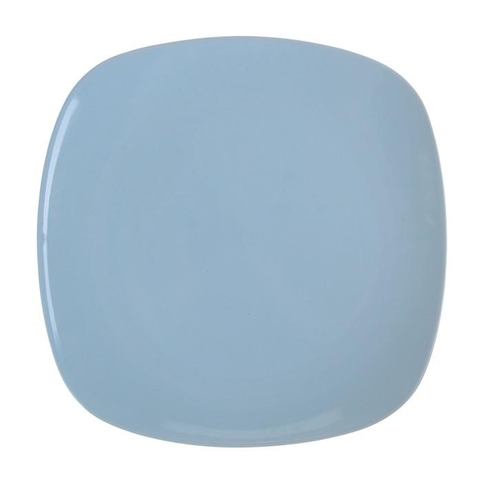 """Тарелка обеденная 26 см """"Пастель"""", цвет голубой"""