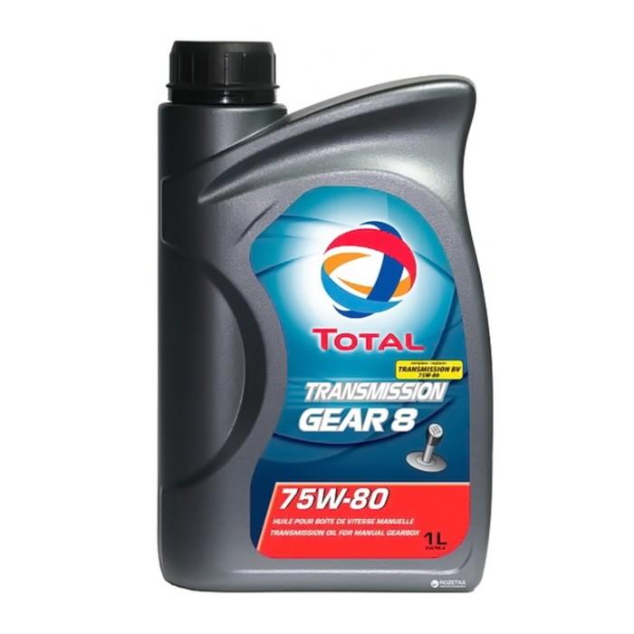 Трансмиссионное масло Total Transmission GEAR 8 75w-80, 1 л