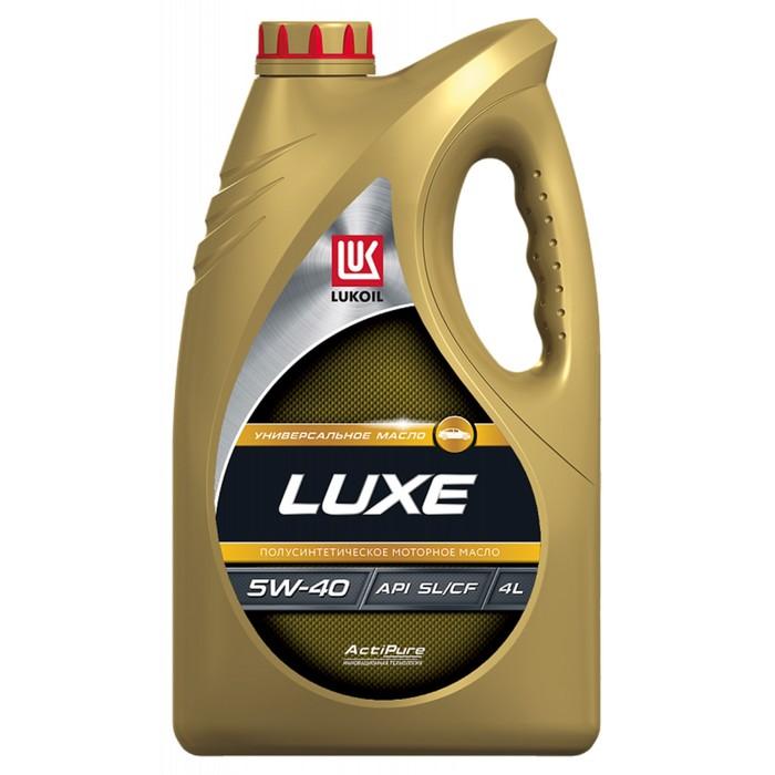 """Моторное масло """"Лукойл Люкс 5W-40 SL/CF"""", 4 л"""
